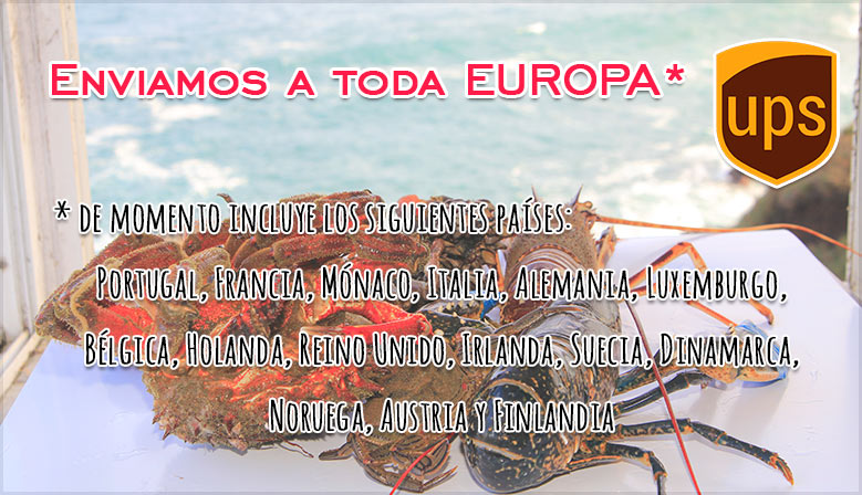 Relación de países europeos con envíos nuestros
