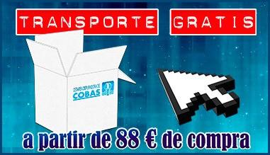Transporte gratuito a partir de 88 € de compra